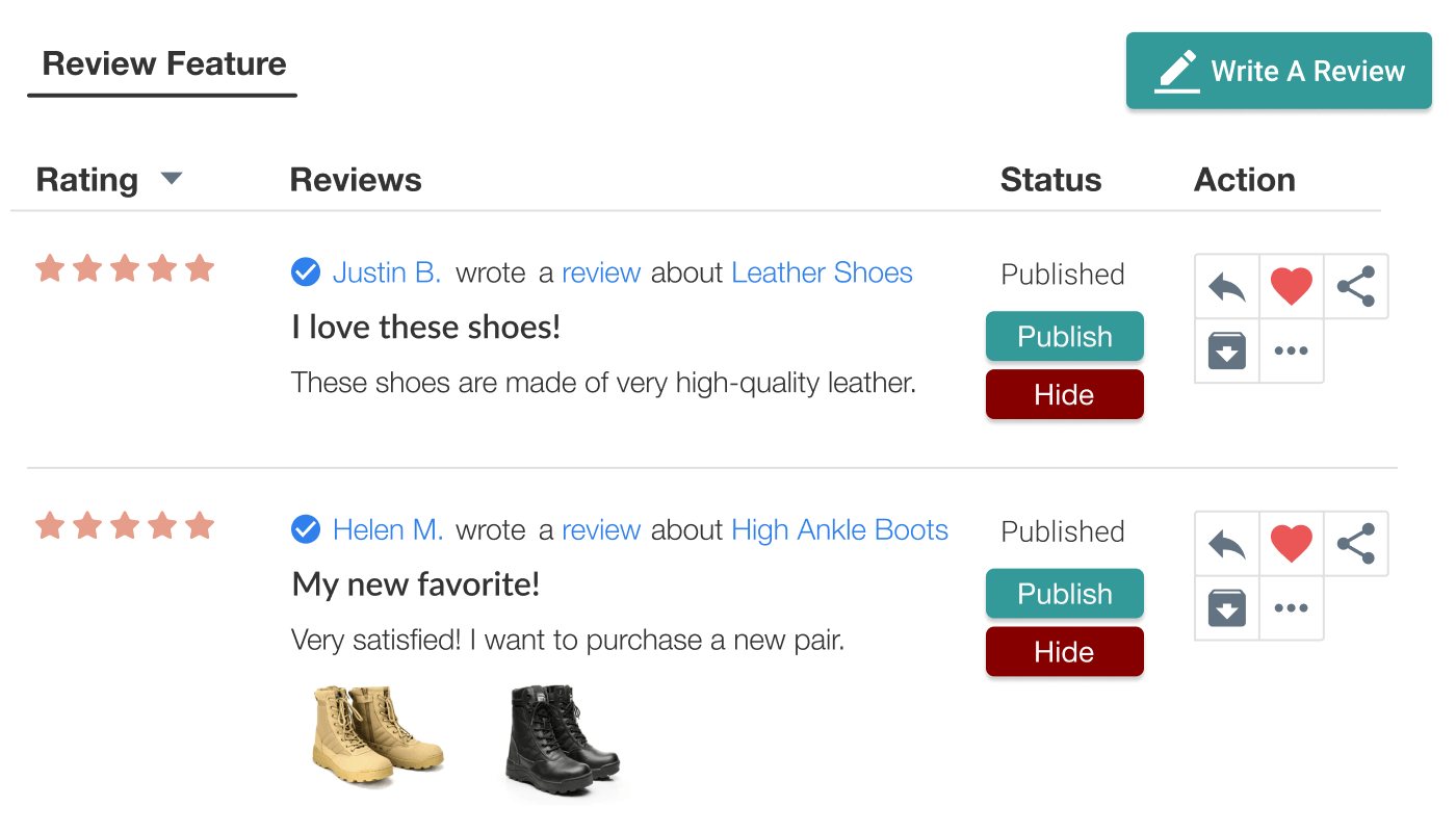 Judge.me Features - Add reviews to the carousel