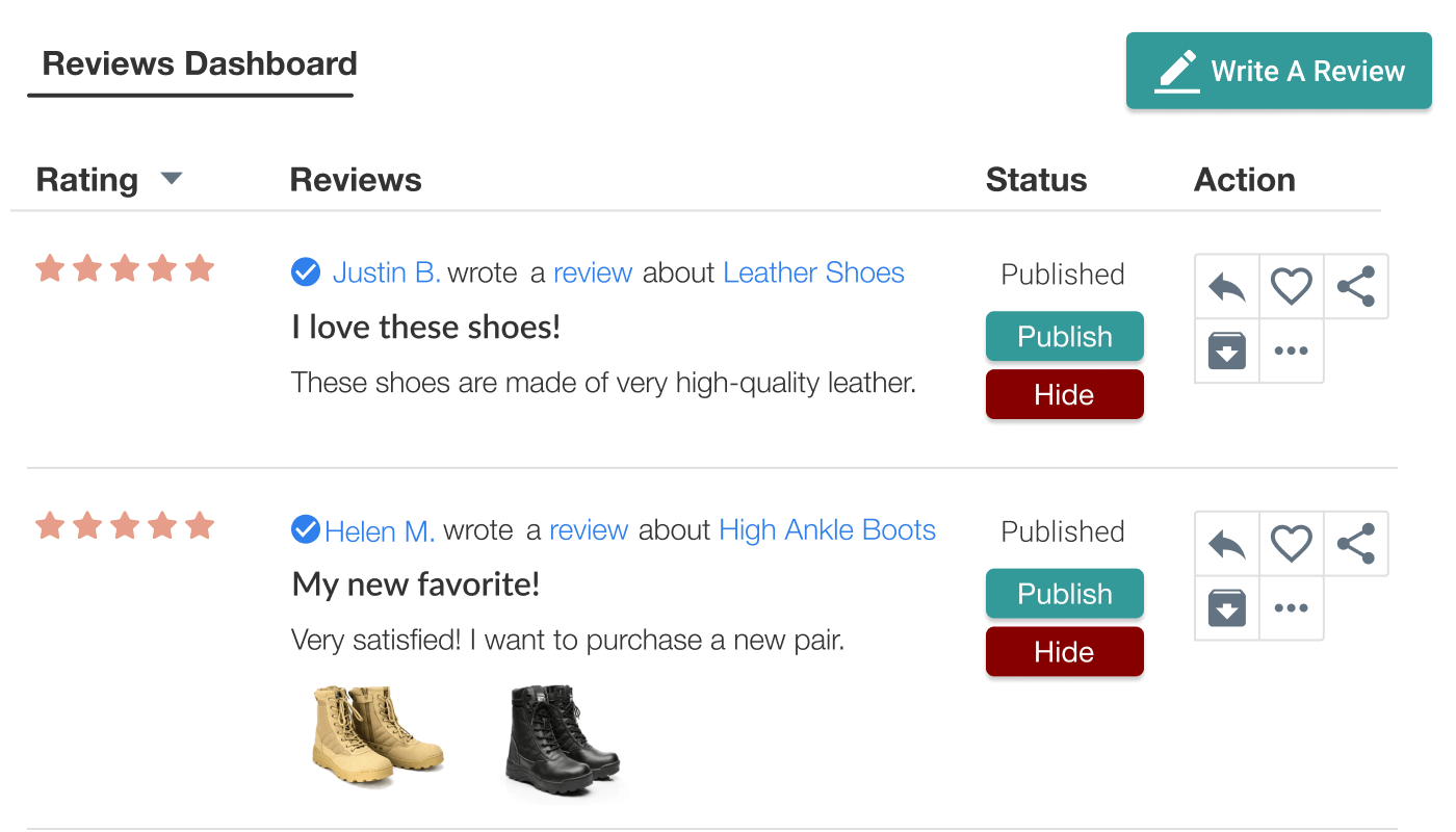 Judge.me Features - Curate reviews
